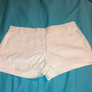 J.Crew white chino shorts size 8